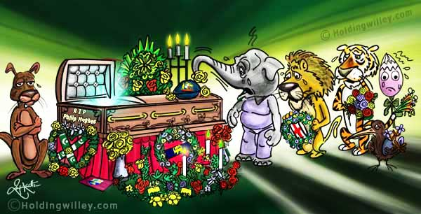Rest In Peace-Phillip Hughes Cartoon