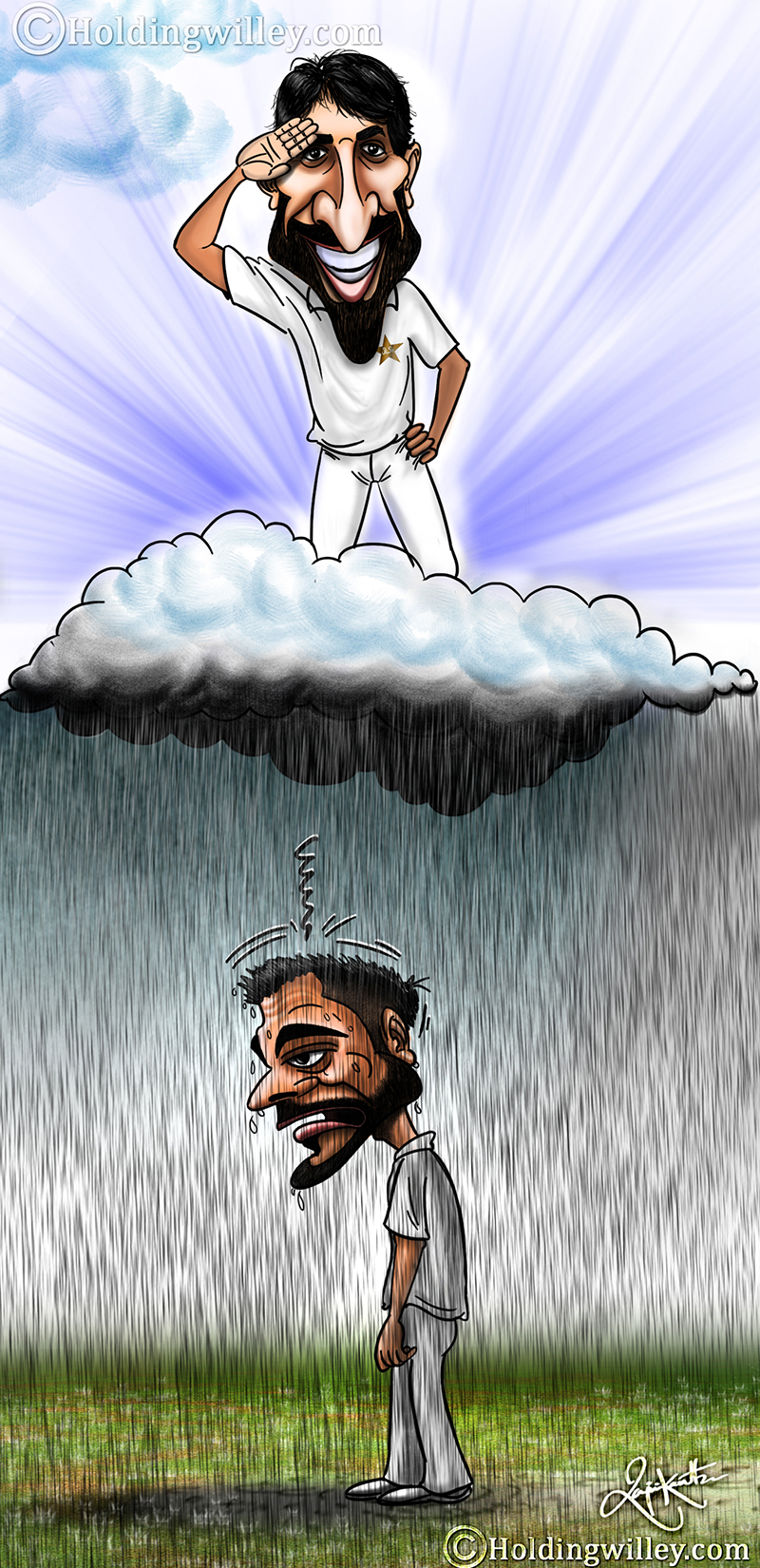 Misbah Ul Haq cartoon, virat kohli cartoon