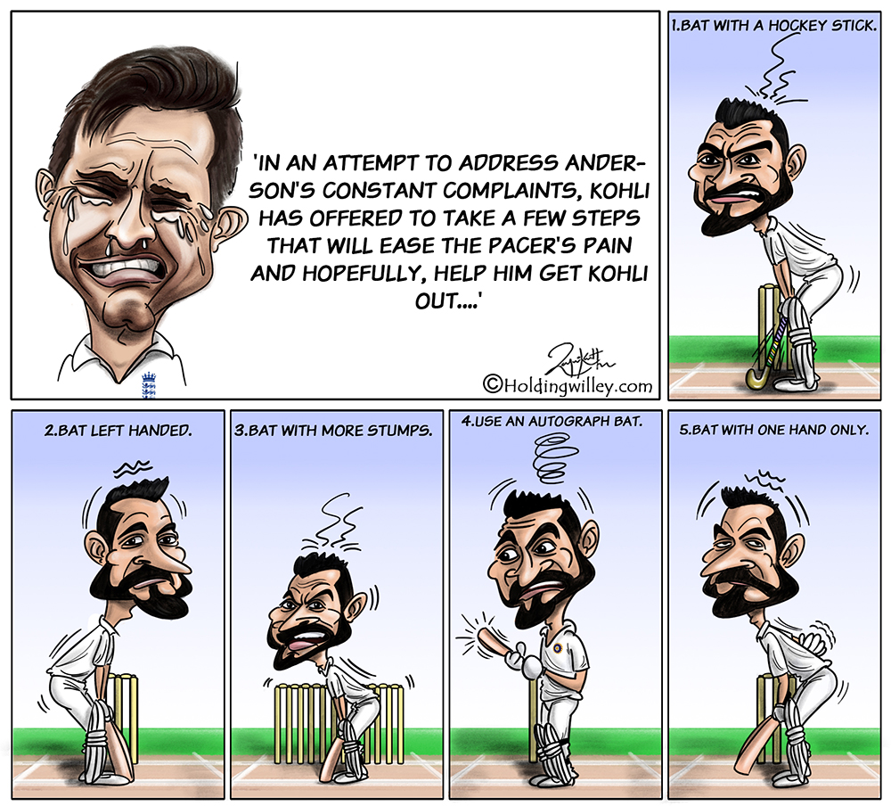 James Anderson Kohli Cartoon