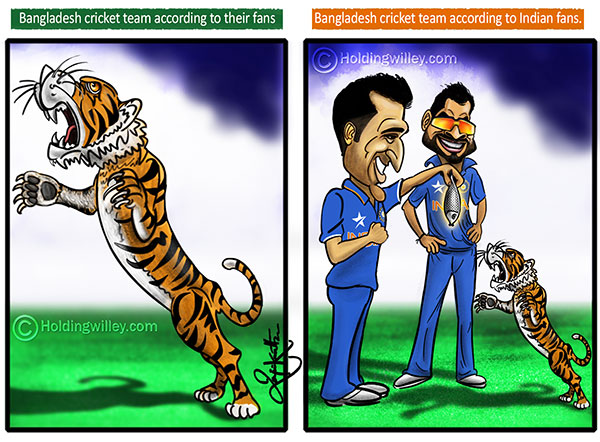 Bangladesh Cricket Team Cartoon