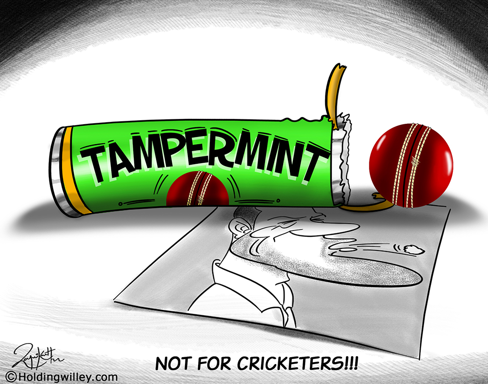 Faf du Plessis ball tampering cartoon